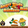 Help an Angry Bird off a stack of objects & land on the ground safely!