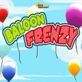 Pump up balloons to form like colored groups of 3 or more.