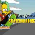 Bart is out to skateboard as long as he can! Help him avoid obstacles!