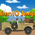 Ben 10 has decided to take a drive over hills in a rather large jeep.