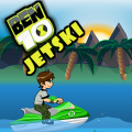 Help Ben 10 hit the ramps & collect coins without crashing his jetski.