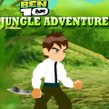 Help Ben 10 escape the jungle as it is becoming a very dangerous place.