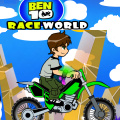Help Ben 10 ride on a motobike over hills and thru valleys.