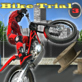 Ride a trial motorcycle over a variety of obstacles.