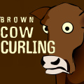 Select your cows & start curling. Each player has three stones to win.