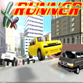 Race in a 3D world while being chased, kind of your own demolition derby