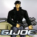 Change the outfit and background of the G.I. Joe character.