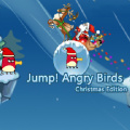 Angry bird is ready for a little adventure, jumping his way to the top.