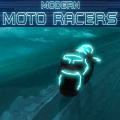 Race through various tracks in this futuristic motorcycle racing game.
