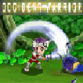 A cute side scrolling battle game with anime/comic style graphics.