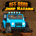 Go off-road in an awesome jeep, trying to drive it as fast as possible.