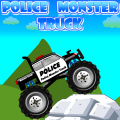 Drive a Police Monster Truck. Try having fun jumping & crushing cars!