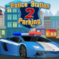 Drive a police car, park it in front of the station fast & safely.