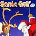 It is Christmas Eve and Santa decides to play a round of indoor golf.