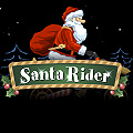 Drive Santa on his festive motorbike, but be quick!