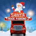 Help Santa collect gift boxes placed on the road, then park his truck.