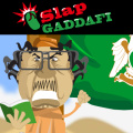 Use your mouse to slap Gaddafi with a slipper!