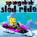 Help SpongeBob safely ride his snowmobile on the snowy hills.