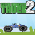 Drive a truck over rough terrain and collect as many stars as possible.