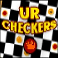 Solid checkers game with three difficulty levels.